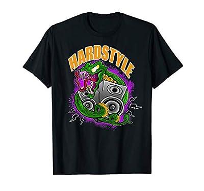 Reptil Art Trippy Funny EDM Hardstyle Dubstep DJ Backdrop T-Shirt