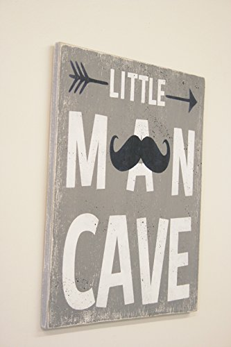 Little Man Cave Boys Nursery Wood (Tribal Sign)
