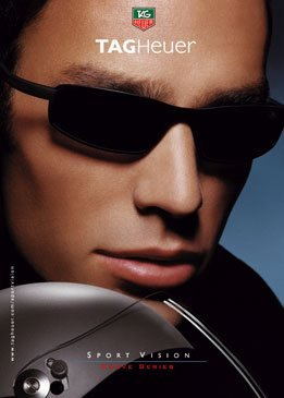 PRINT AD For Tag Heuer Sport Vision Curve Series - Curves Sunglasses