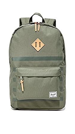 Herschel Supply Co. Women's Heritage Backpack, Deep Lichen Green Stripe/Tan, One Size
