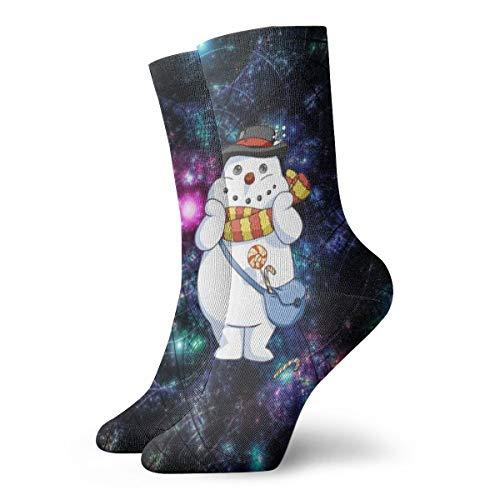 WEEDKEYCAT Cosmic Lights Fractal Christmas Adult Short Socks Cotton Classic Socks for Mens Womens Yoga Hiking Cycling Running Soccer Sports (Cosmic Christmas Yoga)