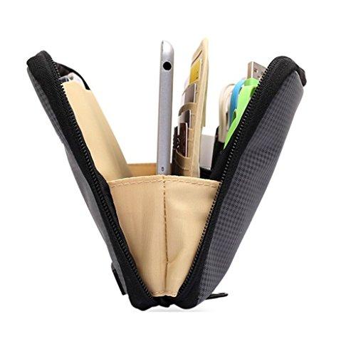 Bolsa de Almacenamiento Impermeable Organizador para Mini Ebook Tableta iPad de 8 Cable USB Teléfono - Negro Negro