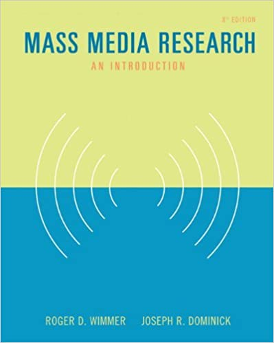 Mass Media Research: An Introduction (with InfoTrac) (Wadsworth Series in Mass Communication and Journalism) by Roger D. Wimmer (2005-03-22)