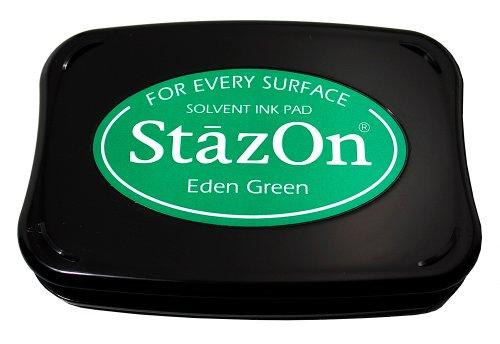 Tsukineko Full-Size StazOn Multi-Surface Inkpad, Eden Green