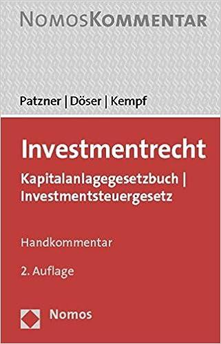 Investmentsteuergesetz literature tax increment reinvestment zones