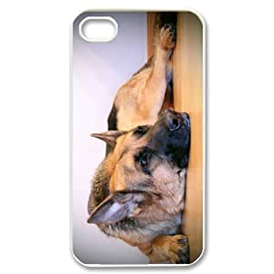 Stylish Design Cute Pet Doggy German Shepherd Dog Diy High Quality Protective Durable Back Case Laser Cover Shell for iPhone 4/4S-4