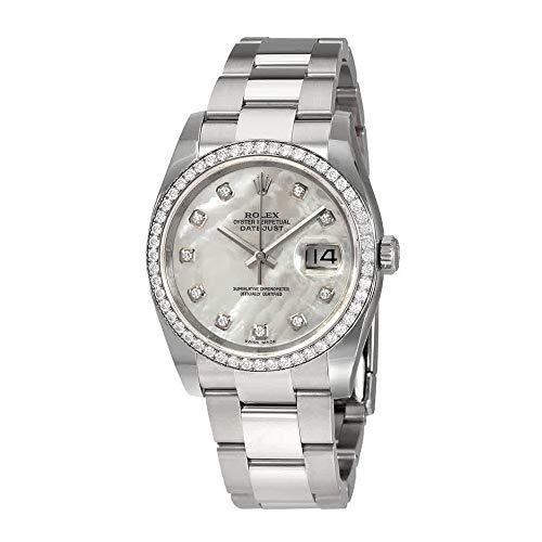 Rolex Oyster Perpetual Datejust 36 Mother of Pearl Dial Stainless Steel Bracelet Automatic Ladies Watch 116244MDO