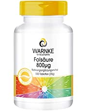 Varning: hälsoprodukter folsyra 800 µg 100 tabletter, 1-pack (1 x 30 g)