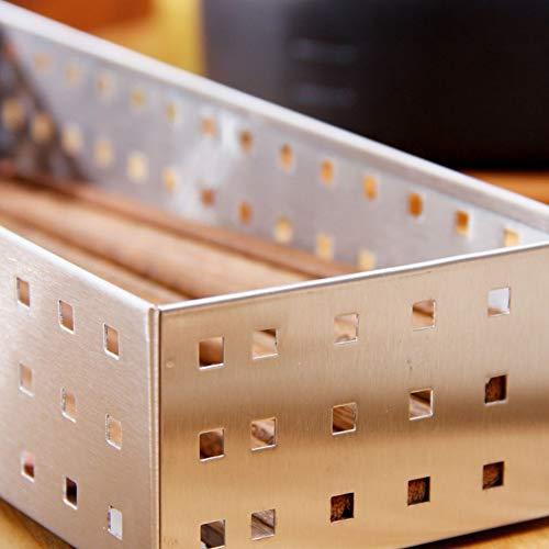 Shelf Storage Racks Storage Basket Kitchen Cutlery Cage Stainless Steel Storage Box Thicken Hollow ZHAOYONGLI by ZHAOYONGLI-shounajia (Image #4)