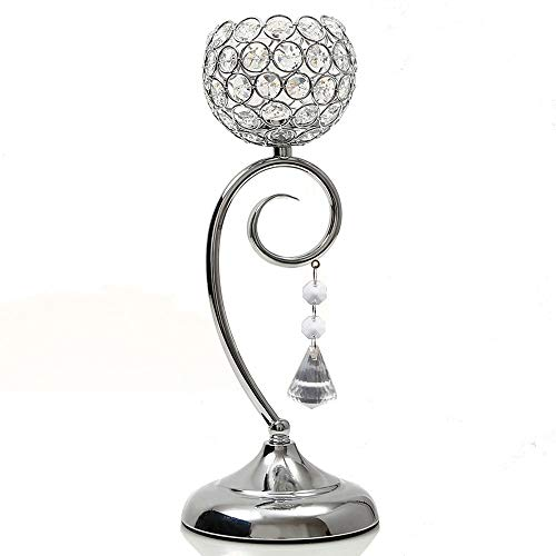 VINCIGANT Silver Candlestick Holders for Dinning Room Buffet Cabinet Table Centerpieces