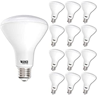 Sunco Lighting 12 Pack BR30 LED Bulb, 11W=65W, 6000K Daylight Deluxe, 850 LM, E26 Base, Dimmable, Indoor Flood Light for Cans - UL & Energy Star