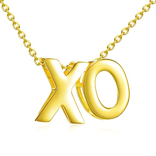 Lemondrop Hugs and Kisses XO Necklace | Gold over 925 Sterling Silver 14k Yellow Hugs