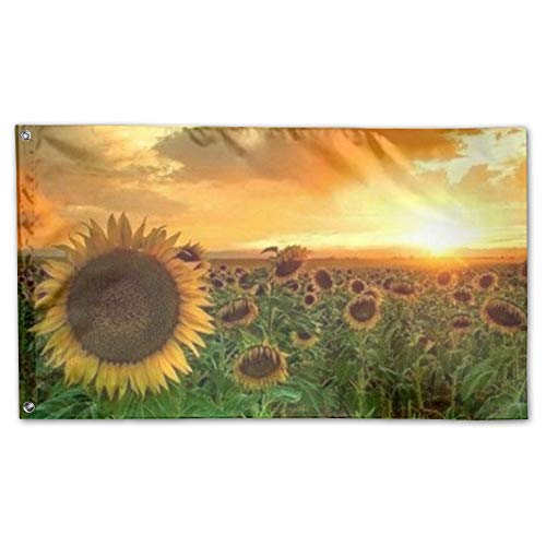 JXLDL Flag Sunflower Outdoor Durable Decorative Polyester Ga