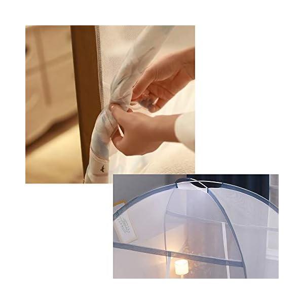 LTJTVFXQ-tarp Zanzariera yurta 1,5 Metri 1,8 m Letto 1,2 casa Tenda Anti-Caduta Completamente Chiusa con Cerniera Blu 3 spesavip