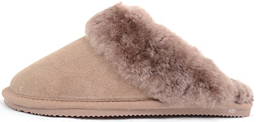 Sole Mink Weight And Cuff Luxury Sheepskin Flexible Mule Light Ladies Slipper With vPFqw8