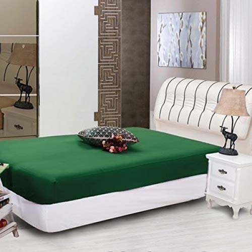 NKns Simple Solid Color Hotel Hotel Bed Trampoline Cover Single Piece Mattress Set Bedding GreenWhite Bed Cover from NKns