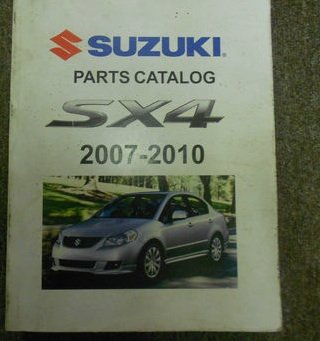 2007 08 09 2010 SUZUKI SX4 Parts Catalog Shop Manual FACTORY OEM BOOK 07 10