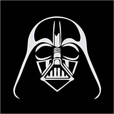 CCI Darth Vader Star Wars Decal Vinyl Sticker|Cars Trucks Vans Walls Laptop|White |5.5 x 5.5 in|CCI1881: Automotive