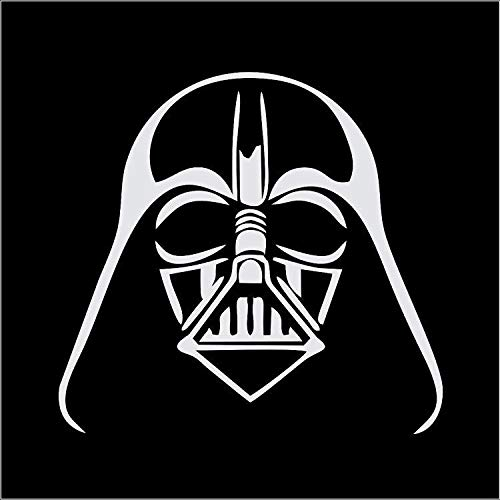 CCI Darth Vader Star Wars Decal Vinyl Sticker Cars Trucks Vans Walls Laptop White  5.5 x 5.5 in CCI1881