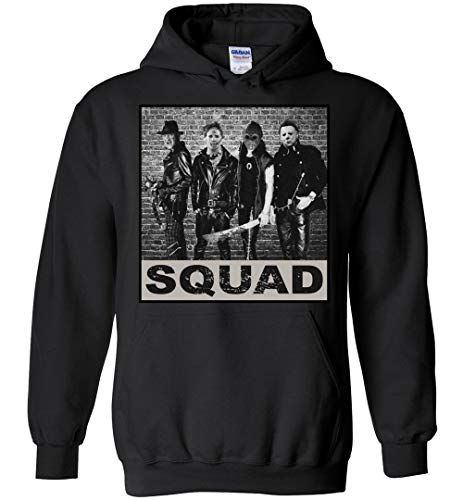 Horror Squad Jason Myers Halloween Costume Hoodie Gift Idea Black