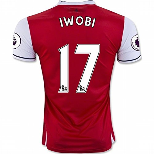 2016 2017 Arsenal 17 Alex Iwobi Home Football Soccer Jersey In Red For New Season