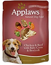 APPLAWS Dog Chicken & Beef with Baby Corn & Broccoli Pouch 150G 12'S (A5259)
