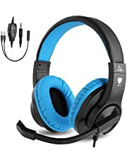 BlueFire 3.5 mm Gaming Casque PS4 Bass Stereo Over-Ear Casque Gaming avec Microphone et contrôle de Volume pour Nouvelle Xbox One/Xbox One S/Nintendo Switch/Android et iPhone (Rose)