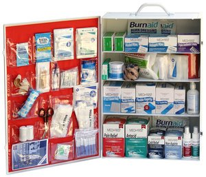 Service Food Kit Burn (4 Shelf Food Service First Aid Cabinet Kit)