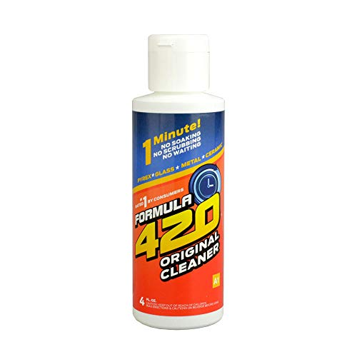 Formula 420 Pyrex Glass Metal and Ceramic Cleaner 4oz by Formula 420 Cleaner