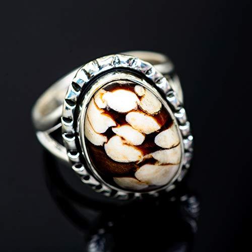 Ana Silver Co Peanut Wood Jasper Ring Size 5.75 (925 Sterling Silver) - Handmade Jewelry, Bohemian, Vintage RING953941 (Ana Silver Co Jasper Ring)
