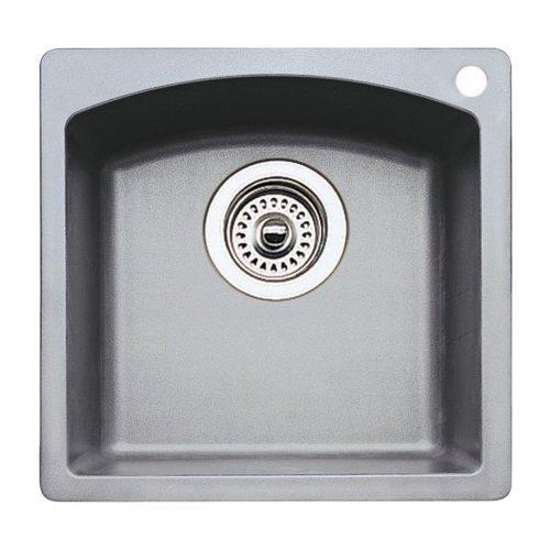 Blanco 511-638 Diamond Silgranit 15-Inch Bar Sink, Metallic Gray by Blanco