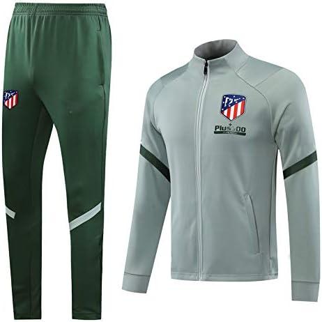 PARTAS Traje Atl/ético de Madrid Largo Jersey de Entrenamiento de f/útbol for Adultos Traje de Deporte Chaqueta y Pantalones de Regalos Oficial de F/útbol