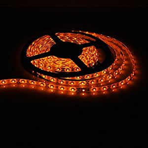 Leedfsw 5M 20W 300x3528SMD Yellow Light LED Strip Lamp with AC Adapter (100-240V)