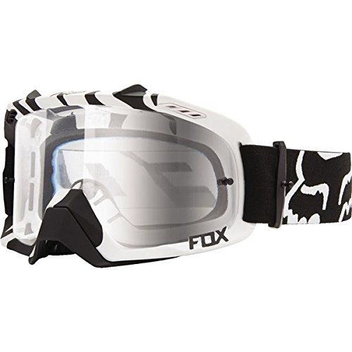 Fox Racing Air Defence Adult MX Motorcycle Goggles Eyewear - Black Zebra/Clear / No Size