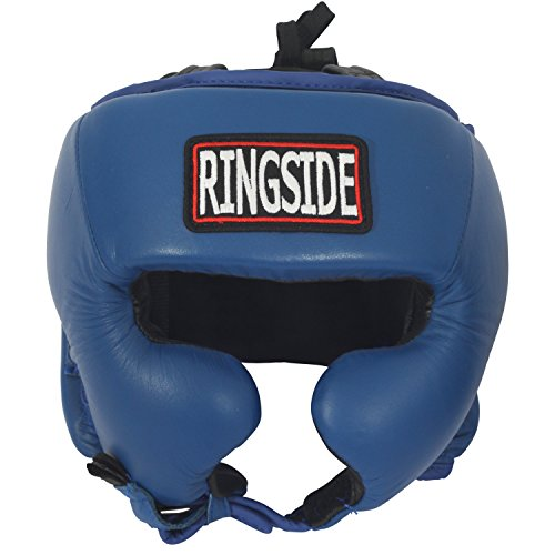 Ringside Competition Boxing Headgear with Cheeks (Black, Medium)