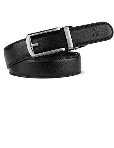 Convenient Click Mens Slide Belt Svale Leather 1 1/5 inch Wide