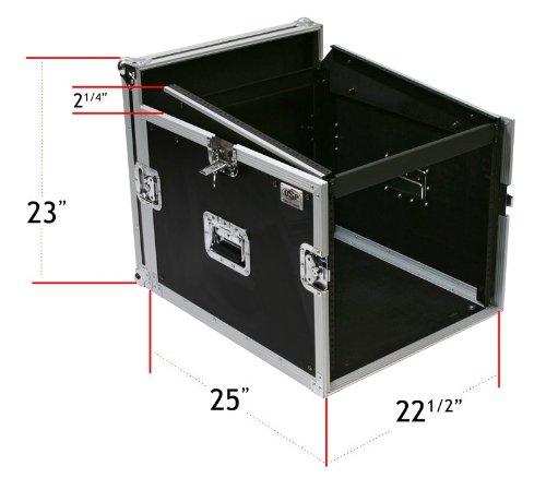 8 Space ATA Mixer/Amp Rack Case 12 Space - Top Slant