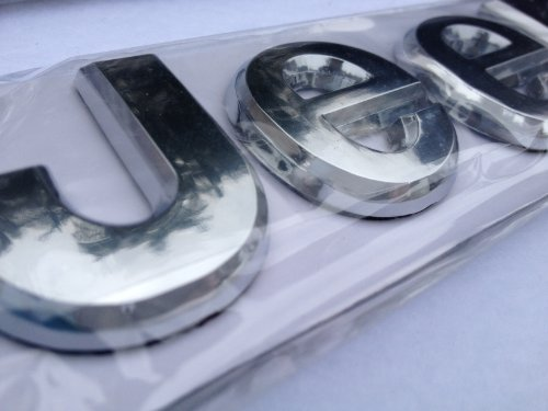 3d chrome car emblem - 2