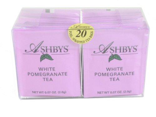 Ashbys White Pomegranate Tea Bags, 20 Count Box
