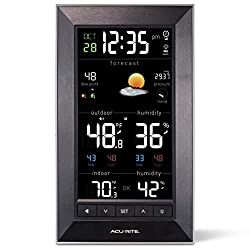 AcuRite 01121M Vertical Wireless Color Weather Station (Dark Theme) with Temperature Alerts