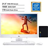 "2020 Dell Inspiron 22 All-in-One Desktop Computer 21.5"" FHD IPS Display,Intel Pentium Gold Processor 5405U, 16GB DDR4 RAM, 1TB SSD, HDMI, Wireless-AC, Bluetooth, KKE Mousepad Bundle, Win10"
