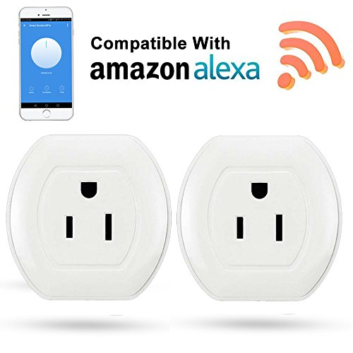 2 Pack Mini Smart Plugs, Quarkware Wifi Enabled Wireless Remote App Control Smart Plug Outlet Socket With Timing Function Compatible with Amazon Alexa Google Home Assistant by Quarkware