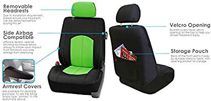 Full Set with Gift FH Group PU008115 Highest Grade Faux Leather Seat Covers Gray Universal Fit