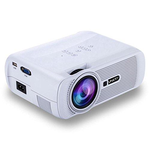 LED HD Micro Home Theater Projector ,Tuscom U80 1000lumens 1080P Multimedia Mini Portable HD Projector (White) by Tuscom (Image #7)