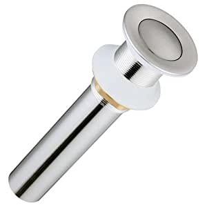 Push Button Style Pop Up Drain Brushed Nickel Home Kitchen
