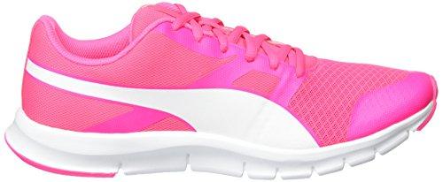 Puma Unisex-Erwachsene Flexracer Low-Top Pink (Knockout Pink-Puma White 24)