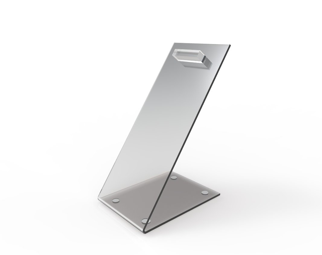 FixtureDisplays Set of 4 Acrylic Plexiglass Lucite Shoe Slant Display Riser 15826