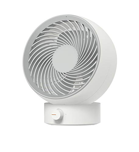 Guo Nuoen Whirlwind Mini Mute Desktop USB Rechargeable Air Circulation Small Table Fan Portable Office Home Travel (White) ()