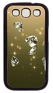 awesome Samsung S3 case Beautiful Diamond Cool PC Black cover custom Samsung S3