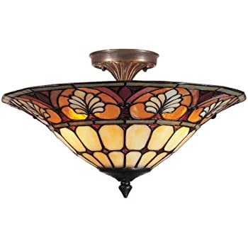 Dale tiffany th90218 pebblestone ceiling light antique golden dale tiffany tm100598 dylan tiffany flush mount light antique brass and art glass shade mozeypictures Images